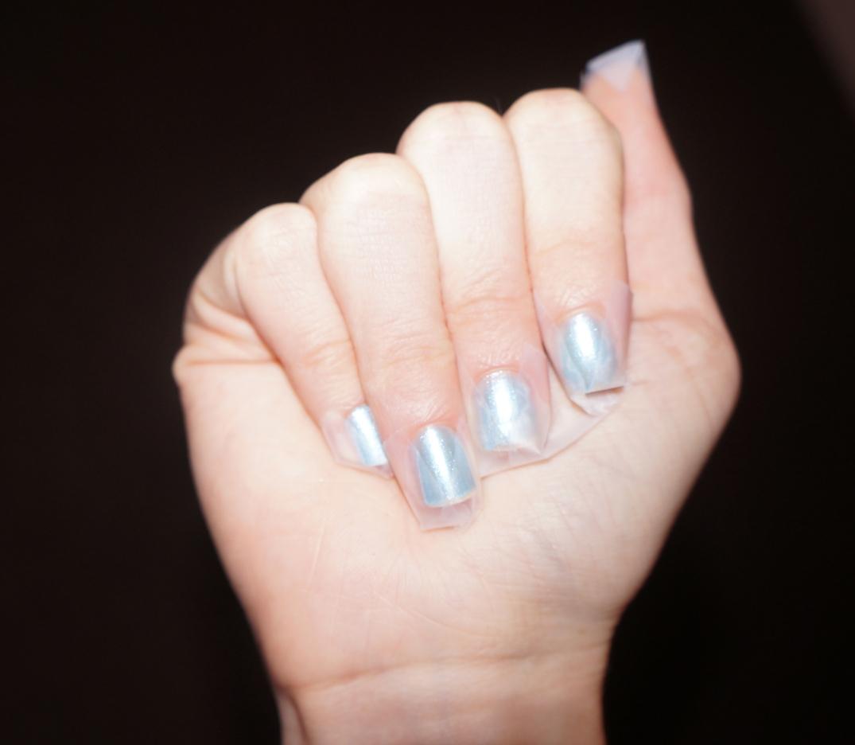scotch tape nail art