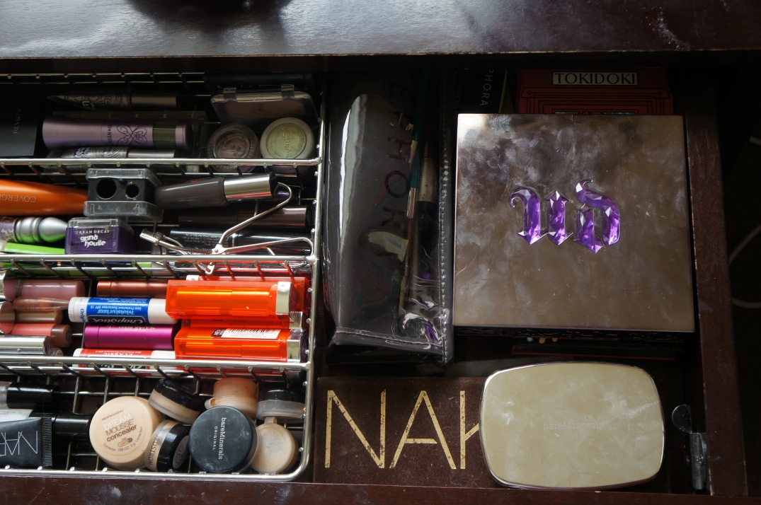 eyeshadow palette organization