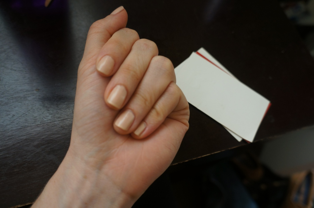 Look at how many business cards these hands have gotten me!