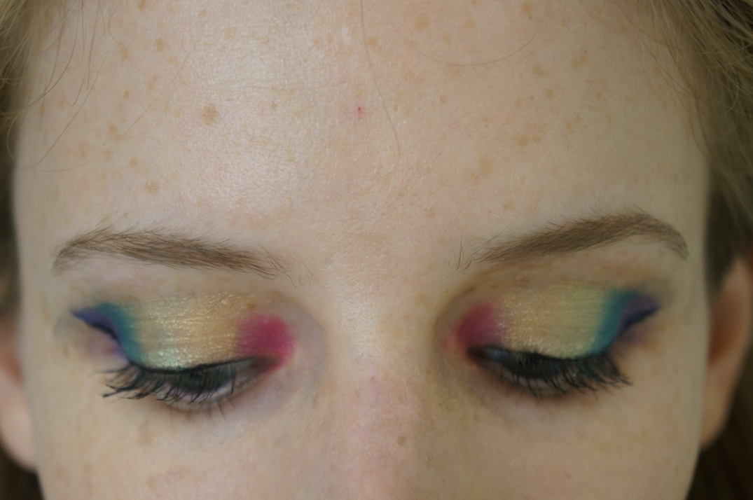 rainbow eye makeup