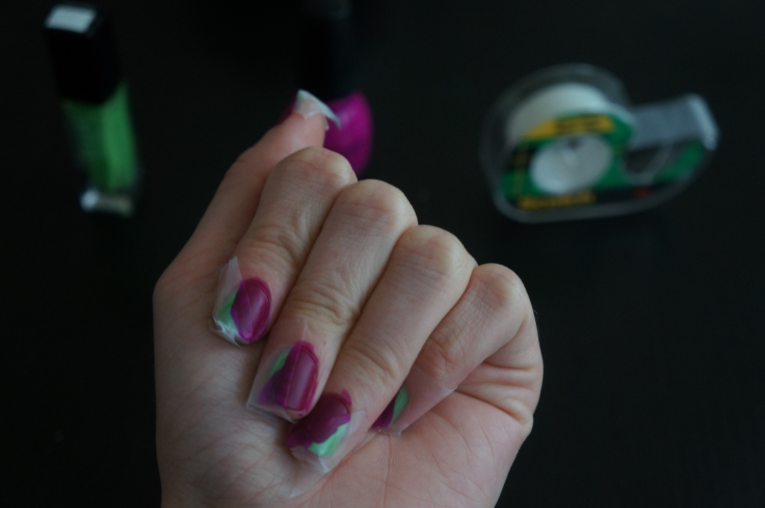 scotch tape manicure