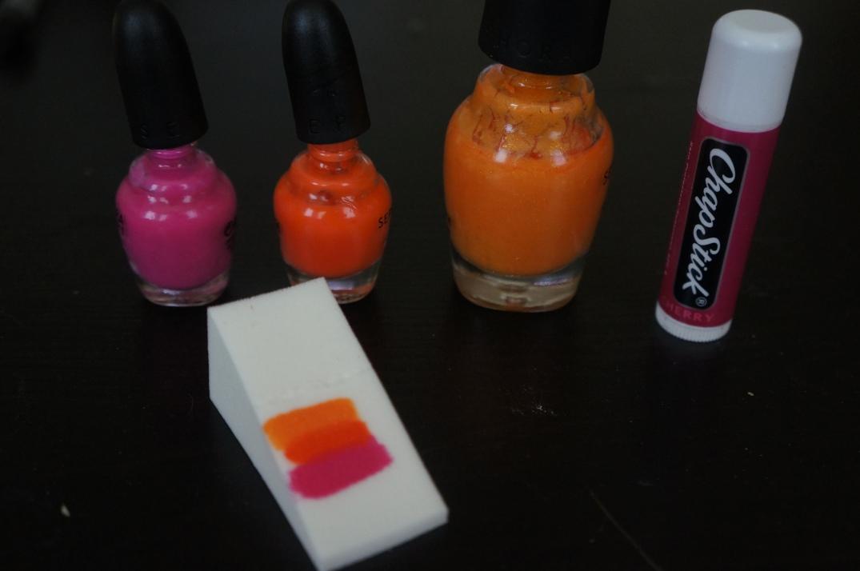 sunset nail tutorial